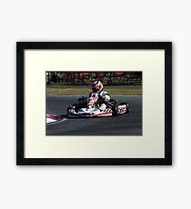 Go Kart Racer Framed Print
