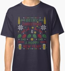 Beery Christmas Hoppy New Year Ugly Sweater Digital Art Classic T-Shirt