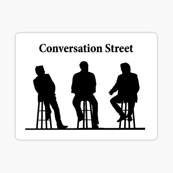 Conversation Street Sticker