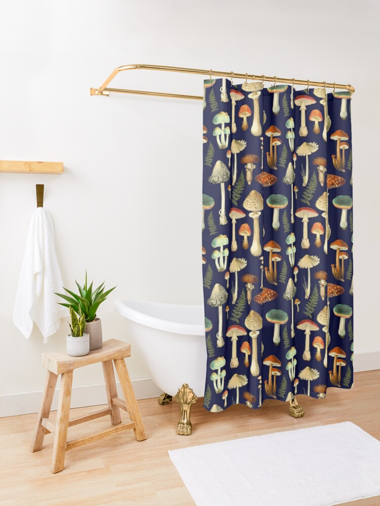 Alternate view of Toadstools Shower Curtain