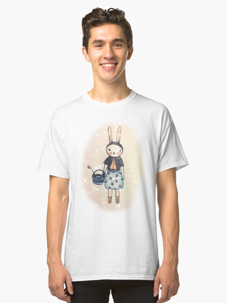Snootbunny Pale - Halo Background Classic T-Shirt Front