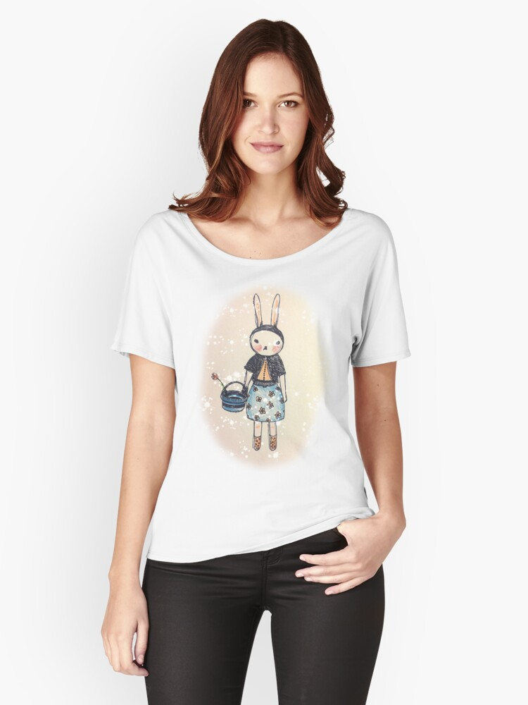 Snootbunny Pale - Halo Background Women's Relaxed Fit T-Shirt Front