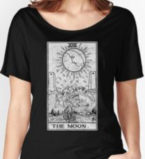 The Moon Tarot Card - Major Arcana - fortune telling - occult Women's Relaxed Fit T-Shirt