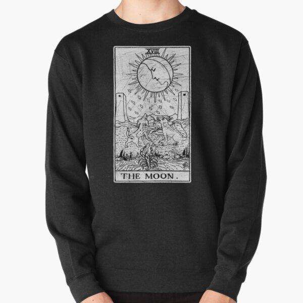 The Moon Tarot Card - Major Arcana - fortune telling - occult Pullover Sweatshirt