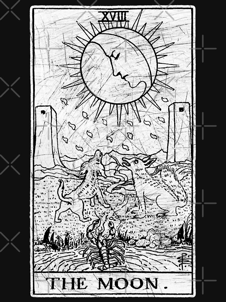 Die Mond Tarot Card - Major Arcana - Wahrsagerei - okkult von createdezign