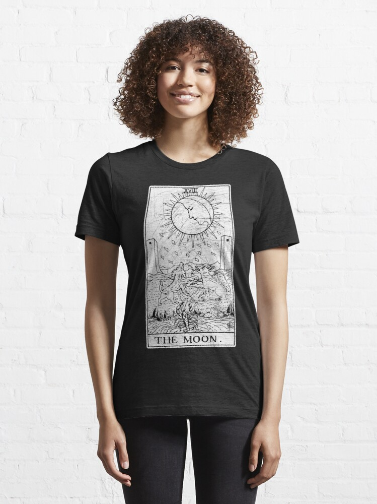 Alternate view of The Moon Tarot Card - Major Arcana - fortune telling - occult Essential T-Shirt
