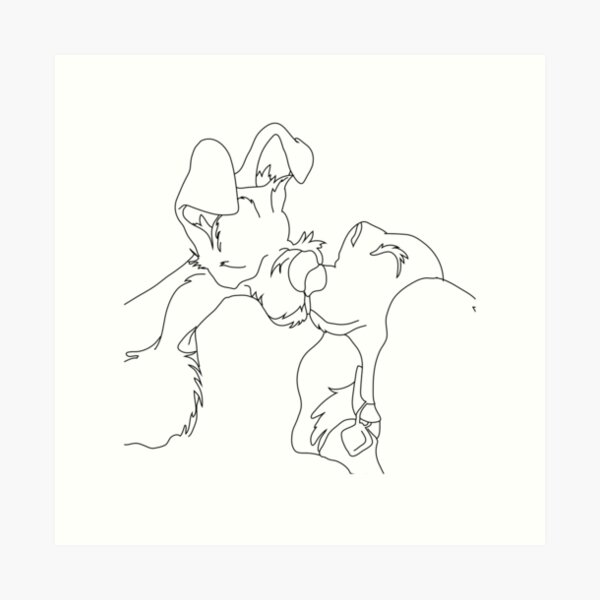 Lady And The Tramp Wall Art Redbubble