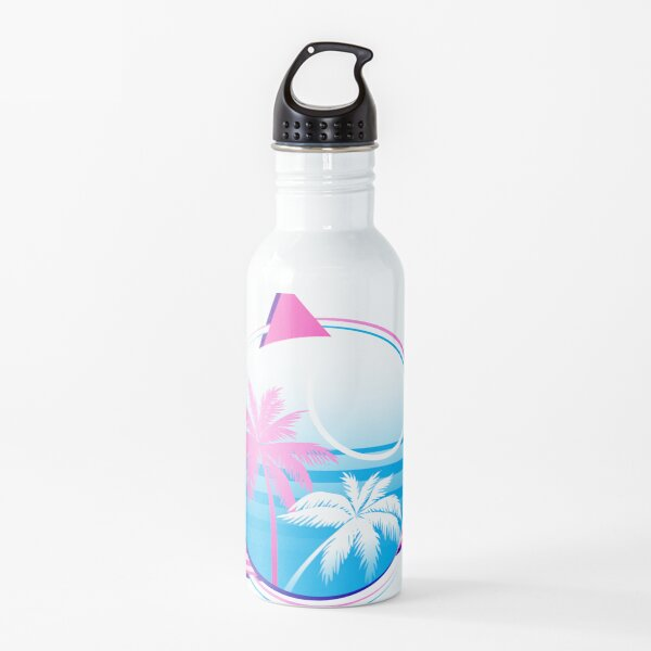 Synthwave Trans Flag Water Bottle