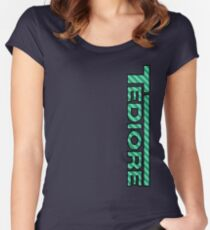 Tediore Carbon Logo Women's Fitted Scoop T-Shirt