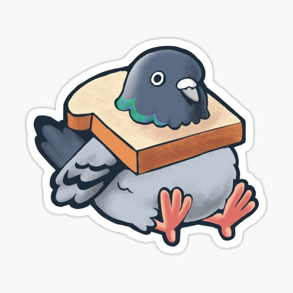 Hungry Pigeon Sticker