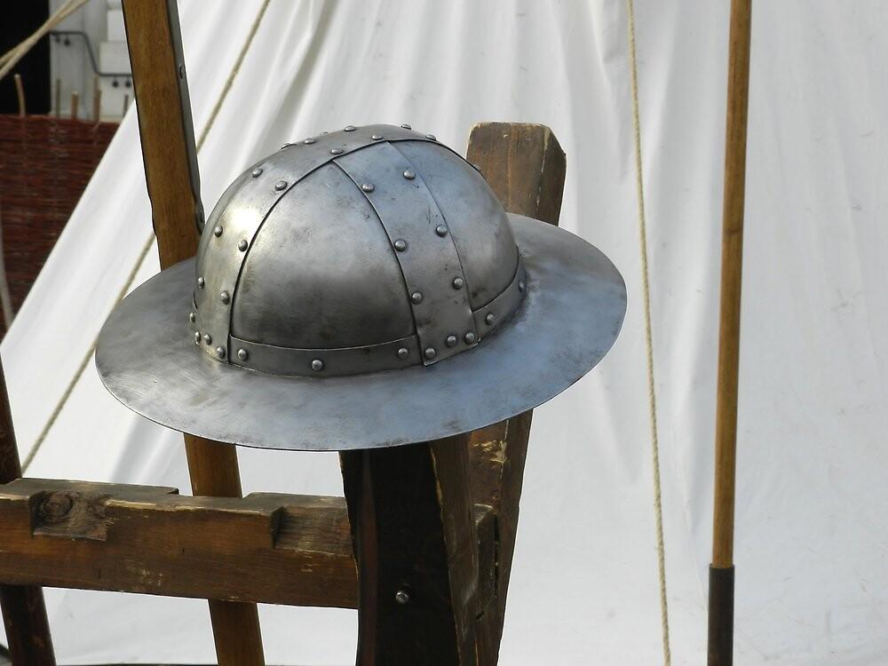 Medieval Riveted Iron Helmet by ivDAnu