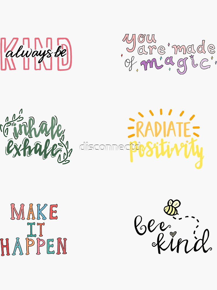 positivity sticker pack by disconnectd