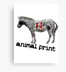 Animal Print (white logo) Canvas Print