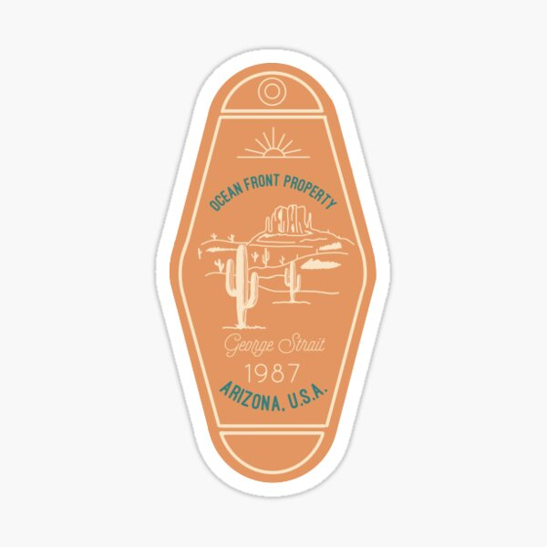 Ocean Front Property Hotel Keychain Sticker
