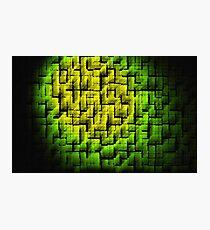Green Blocks Photographic Print