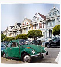 Volkswagen Beetle on Steiner Street Poster
