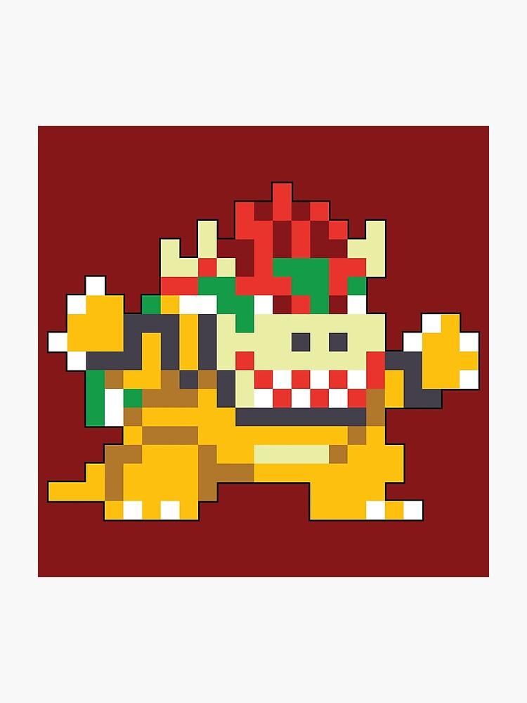 Super Mario Maker - Bowser Costume Sprite | Photographic Print