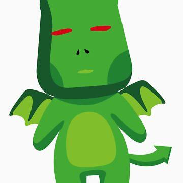 EVIL GREEN T SHIRT by GeekShirtsHQ