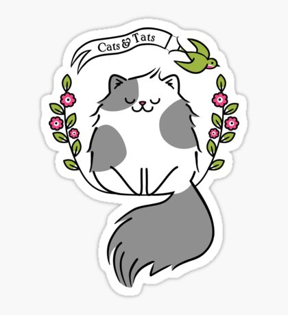 Cats And Tats  Sticker
