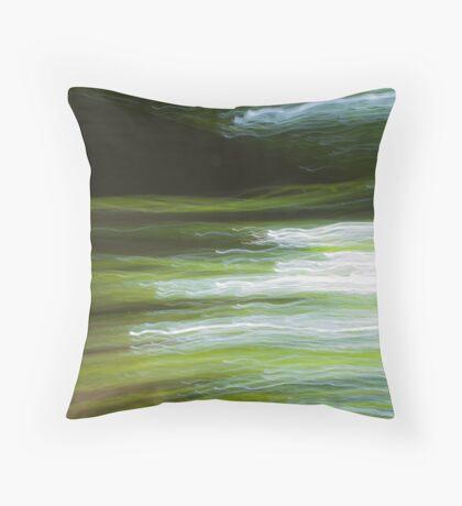 Fleeting Waves Throw Pillow