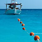 Sea, sky, boat and buoys by UniSoul