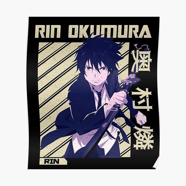 Rin Okumura - Blue Exorcist Anime manga Poster