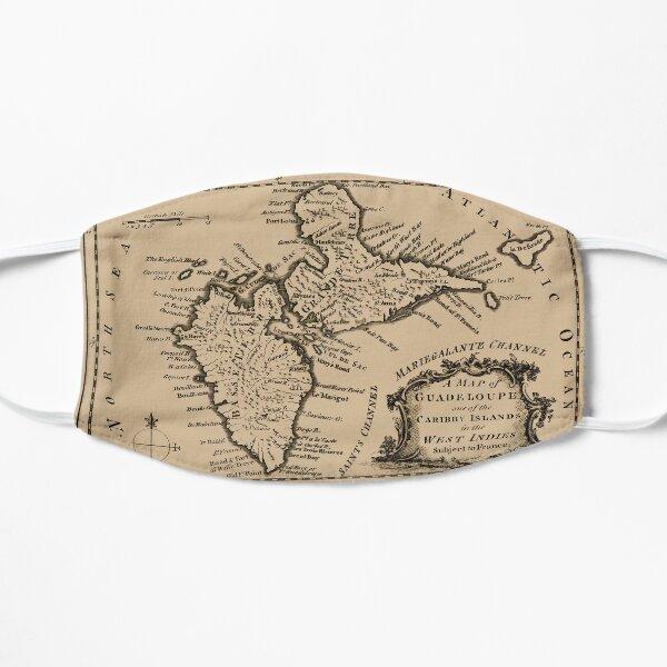 Carte de la Guadeloupe 1759 Masque sans plis