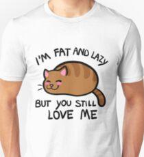 Lazy Cat, Orange Tabby Unisex T-Shirt