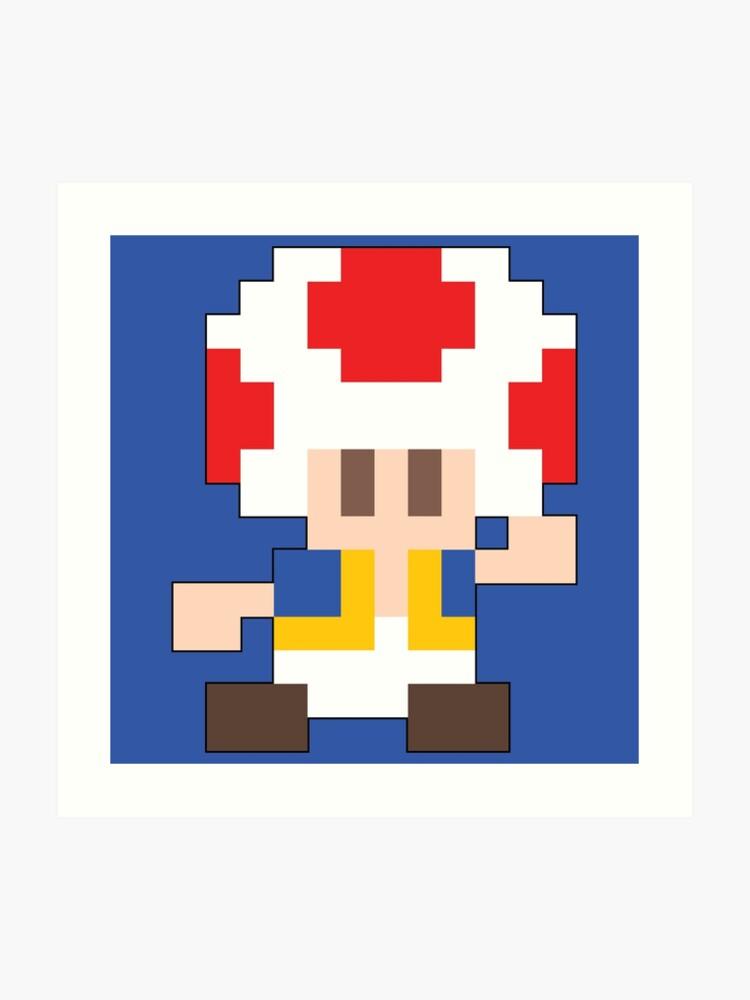 Super Mario Maker - Toad Costume Sprite   Art Print