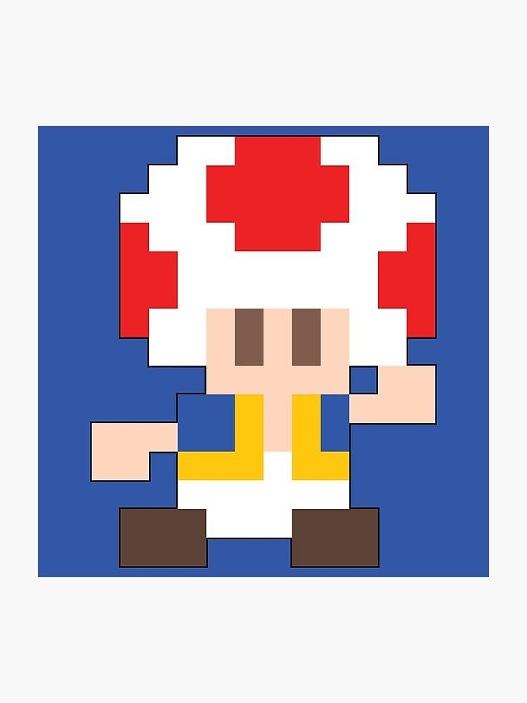 Super Mario Maker - Toad Costume Sprite | Photographic Print