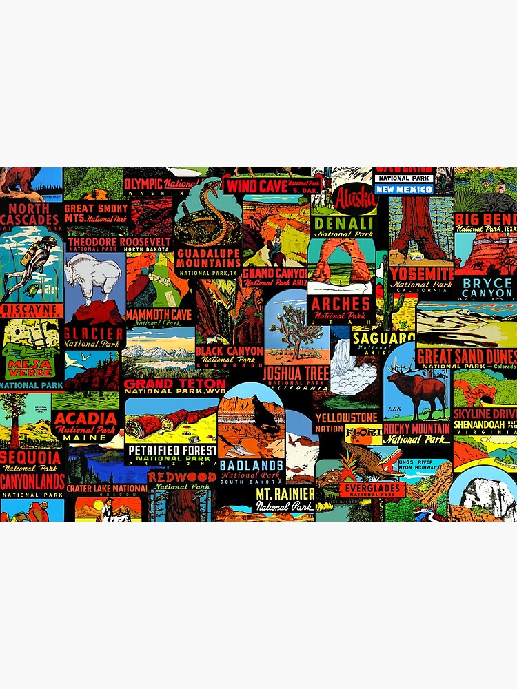 American National Parks Vintage Travel Decal Bomb by hilda74