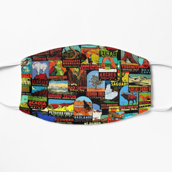 American National Parks Vintage Travel Decal Bomb Mask