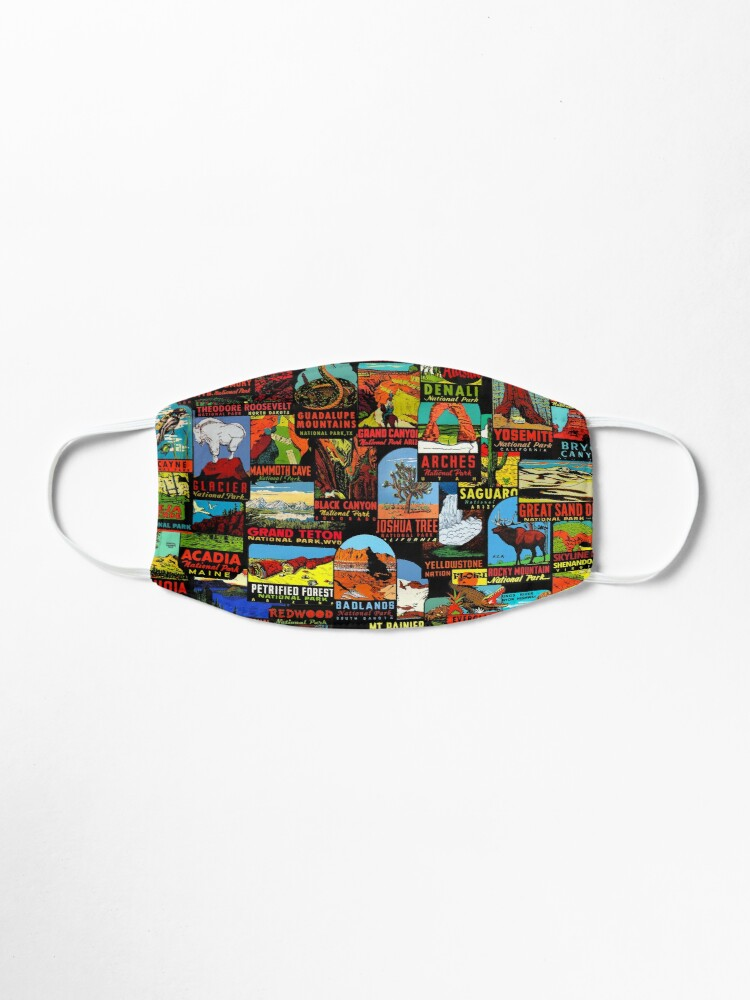 Alternate view of American National Parks Vintage Travel Decal Bomb Mask