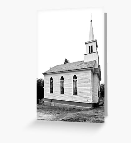NEW ENGLAND CHURCH (CARD ONLY) Greeting Card