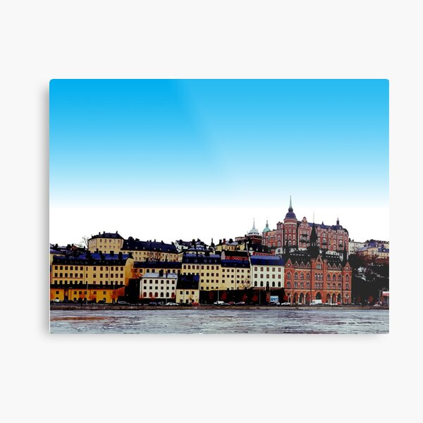 Buildings on the waterfront - Stockholm Sweden Metal Print