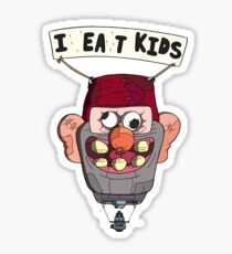 gravity falls i eat kids balloon  Sticker