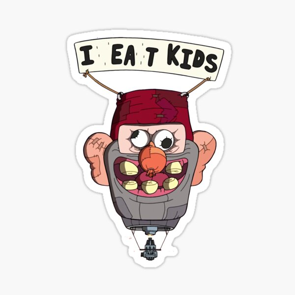 gravity falls i eat kids balloon  Sticker