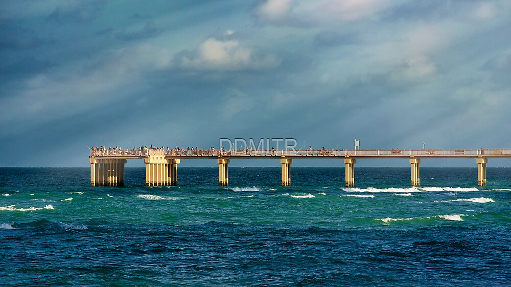 Newport fishing pier by ddmitr redbubble for Newport pier fishing