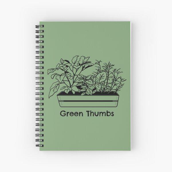 Green Thumbs Flower Garden Theme Spiral Notebook