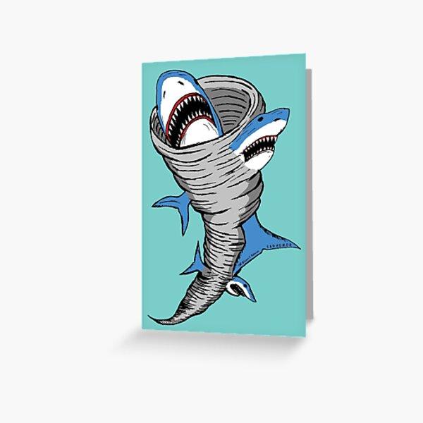Shark Tornado Greeting Card