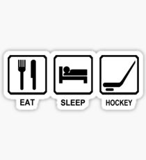 EAT SLEEP HOCKEY funny cool ice skate sport nhl canada Sticker