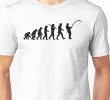 Evolution of a Fisherman Angler Mens Fishing Unisex T-Shirt