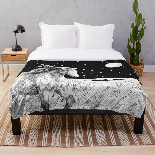 Star Horse Throw Blanket
