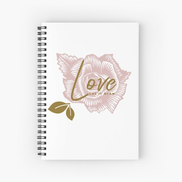 Love Let it Grown, Flower Garden Theme Spiral Notebook