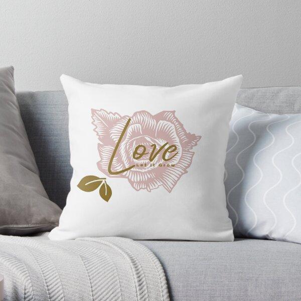 Love Let it Grown, Flower Garden Theme Throw Pillow