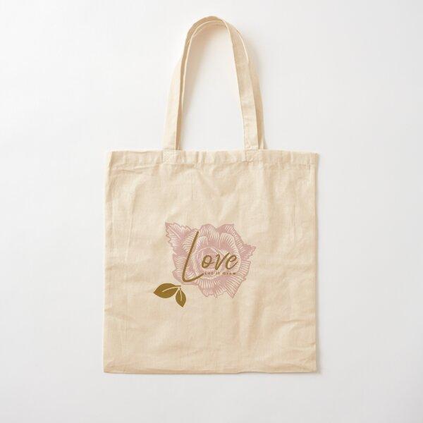 Love Let it Grown, Flower Garden Theme Cotton Tote Bag