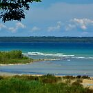 High Island, seen from the west shore of Beaver Island, MI by F.  Kevin  Wynkoop