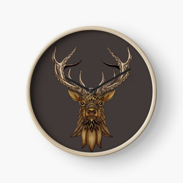 Brown Stag Clock