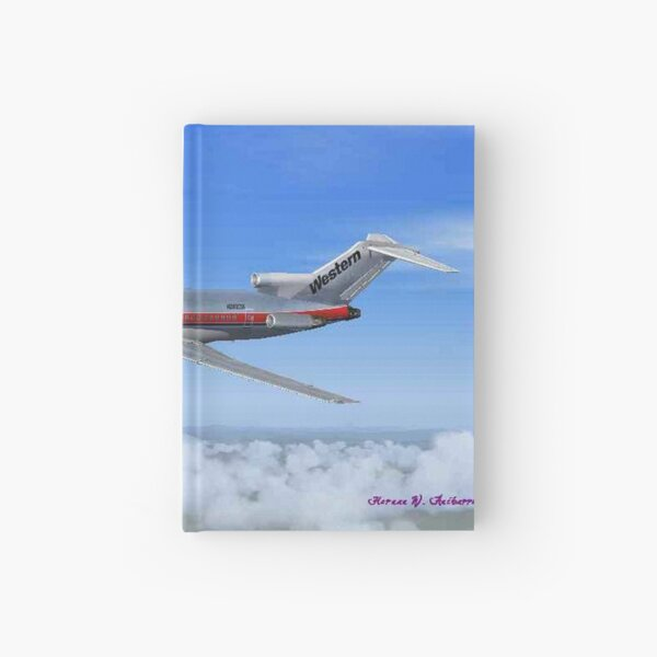 "Western Airlines Boeing 727-200 ""Budlight Scheme"" Hardcover Journal"