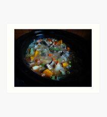 *Beef, Leek & Mushroom Casserole* Art Print